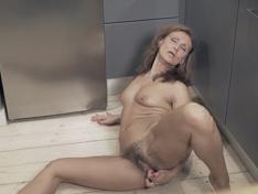 WeareHairy.com Drugaya has fun in her kitchen as she masturbates  Video 1089p Hairy Closeup
