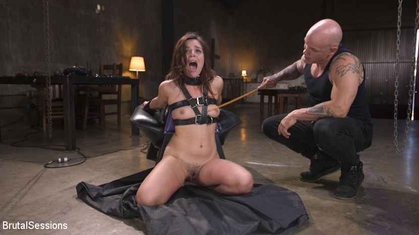 Kink.com brutalsessions Tiny Masochist Juliette March Coerced into Bondage and Anally Fucked  WEBL-DL 1080p mp4
