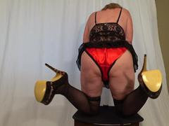 TacAmateurs CougarBabeJolee – Cum Get My Arse & Take My Satin Panties Down HD Video  [IMAGESET/Videoclip Amateur ]