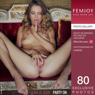 FEMJOY Party On feat Elina De Leon release December 31, 2018  [IMAGESET 4000pix Siterip NUDEART]