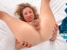 WeareHairy Manon Manon enjoys stripping nude in her bedroom [FULL PICSET Highres WEBRIP]