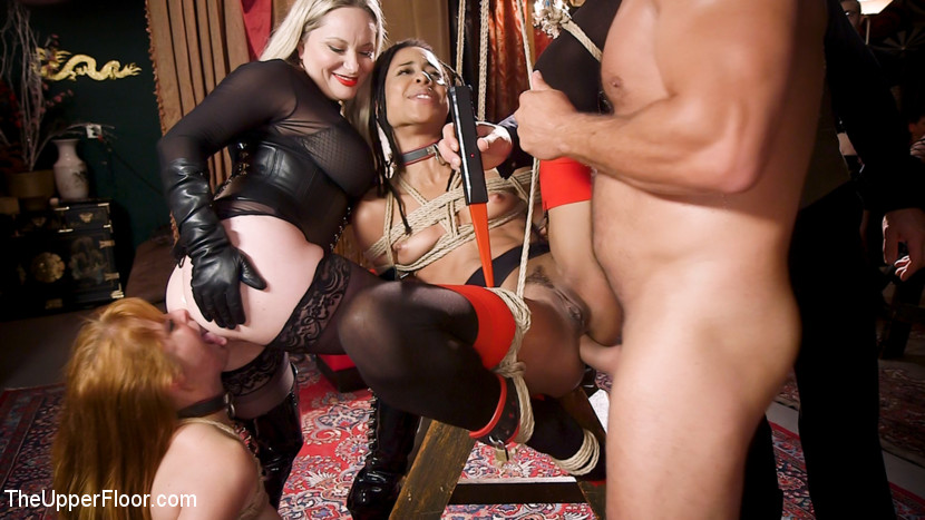 Kink.com theupperfloor BDSM Swinger Orgy Served by the Anal Servant Girls  WEBL-DL 1080p mp4