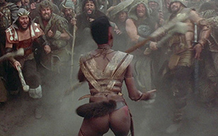MrSkin Peep The Gorgeous Grace Jones' Thong Scene in Conan the Destroyer  Siterip Videoclip