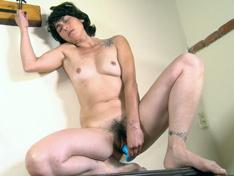 WeareHairy.com Soledad masturbates by fucking with a dildo  Video 1089p Hairy Closeup