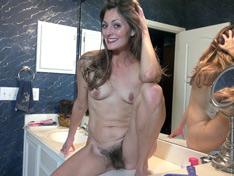 WeareHairy.com Vanessa Bush masturbates on her bathroom counter  Video 1089p Hairy Closeup