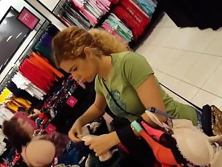 YourVoyeurVideos  Blonde latina spandex shorts camel toe SiteripCLIP Amateur XXX