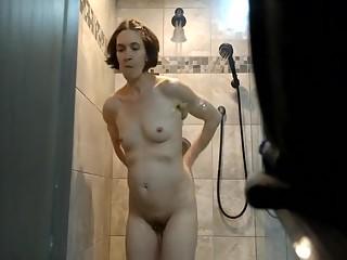 YourVoyeurVideos  Small breasts wife in shower SiteripCLIP Amateur XXX