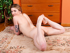 WeareHairy Lydia Lydia poses and strips off her blue swimsuit  [FULL PICSET Highres WEBRIP]