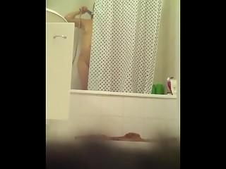 YourVoyeurVideos  Small boobs stepmom shower SiteripCLIP Amateur XXX