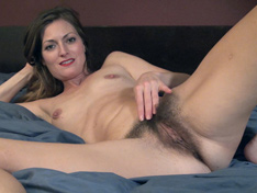 WeareHairy.com Vanessa Bush enjoys naked time while in bed  Video 1089p Hairy Closeup