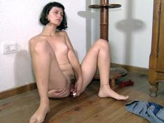 WeareHairy.com Venus undresses to masturbate on her floor  Video 1089p Hairy Closeup