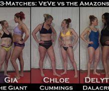 Clips4Sale 3 Matches: VeVe vs Gia the Giant AND vs Chloe Cummings AND vs Delyte Dalacruz #FEMALEWRESTLING  Doom Maidens Wrestling  WEB-DL Video Clips4Sale wmv+mp4 h.265