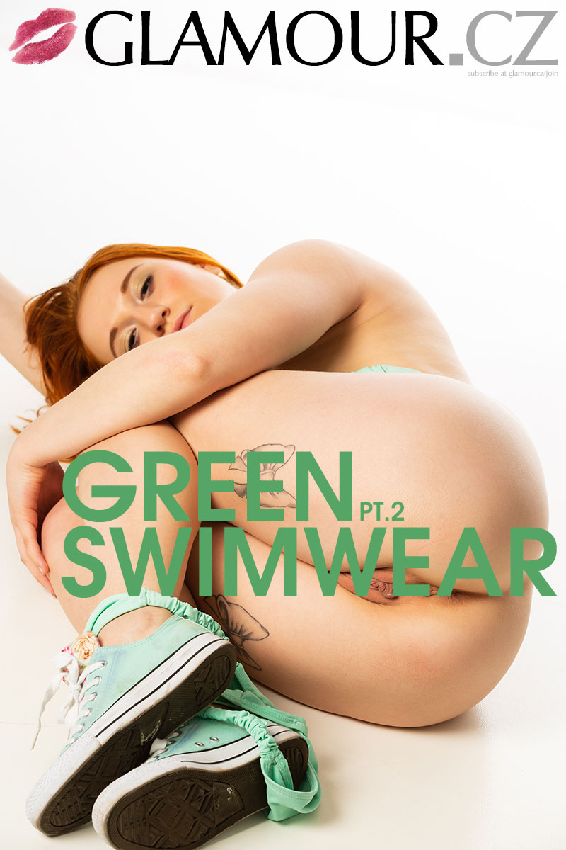 Glamour.CZ Natalie, green swimwear Pt.2  Siterip Imagepack Collectors Edition