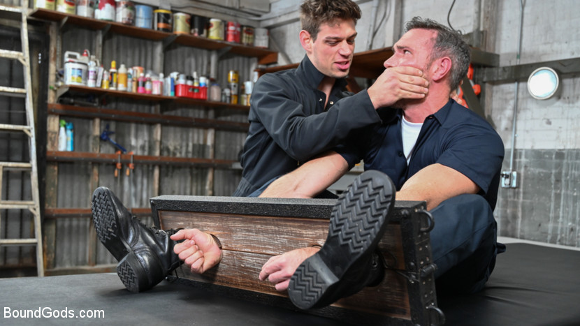 boundgods My Brother's Discipline: Michael DelRay Punishes Step-Bro Alex Mecum Mar 21, 2019[Kink.com]  Siterip BDSM h.264