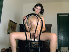 WeareHairy.com Venus masturbates on her wooden table  Video 1089p Hairy Closeup