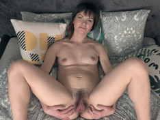 WeareHairy.com Magda M strips off her black dress in bed  Video 1089p Hairy Closeup