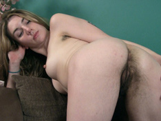 WeareHairy.com Lydia relaxes and strips naked on her couch  Video 1089p Hairy Closeup