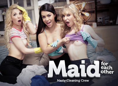 Girlsway Maid For Each Other: Nasty Cleaning Crew feat Kenzie Reeves  WEB-DL FAMENETWORK 2019 mp4 Siterip RIP