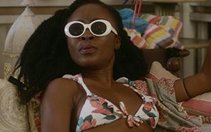 MrSkin Nana Ghana's Smokin' Bikini Scene in WHAT / IF  WEB-DL Videoclip