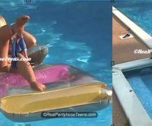 Clips4Sale 18yo Bri Tan French Cut Pantyhose in the Pool MP4 #18&19YRSOLD  Real Pantyhose 18-19yo  Siterip Video wmv+mp4