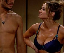MrSkin Hunter King's Sweaty Boobs in The Young and the Restless  WEB-DL Videoclip