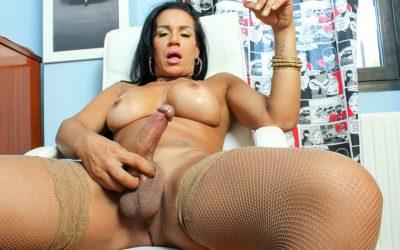 TGirl40 Aline Cums Hard!  Shemale XXX WEB-DL Groobynetwork