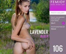 FEMJOY Lavender  feat Elle P. release February 19, 2020  [IMAGESET 4000pix Siterip NUDEART]