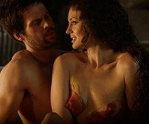 MrSkin Laura Haddock:  the Red Hot White Lines Hottie's Breast Nude Scenes  WEB-DL Videoclip