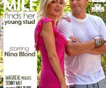 MATURE.NL Skinny MILF Nina Blond seducing a young stud with a big knob  [SITERIP VIDEO 2020 hd wmv 1920×1200]