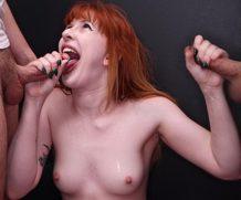 Blowbanggirls  Blowbanggirls Cute Redhead Hannah In Her First Blowbag WEBRIP 1080 p Siterip Video