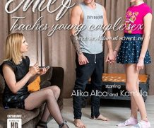 MATURE.NL Hot MILF Alika Alba teaches a young couple sex  [SITERIP VIDEO 2020 hd wmv 1920×1200]
