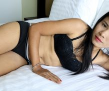 Asiansexdiary Lonely MILF with skinny body lays in bra and panties on bed  WEB-DL Video 1920×1020 wmv