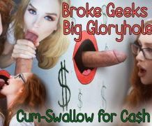 MANYVIDS RoxyCox in Schoolgirl Gloryhole Blowjob Trick w/CIM  Video Clip WEB-DL 1080 mp4