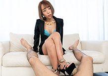 Legsjapan Nanako Nanahara Black Suit Footjob  WEBRIP Video h.265 Multimirror