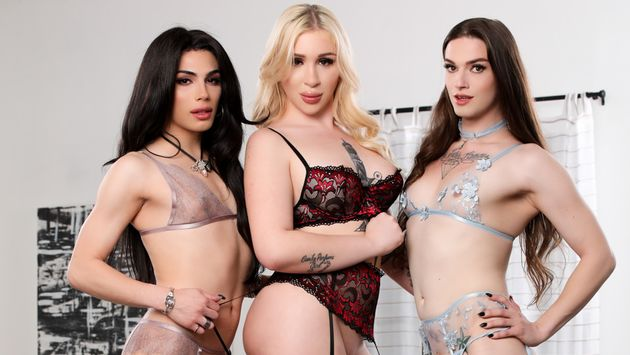 Famedigital Its A Trans Sandwich (And Im The Meat!) - Angelina Please, Ariel Demure & Jenna Creed  Siterip Video 1080p wmv Siterip RIP