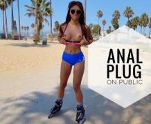 MANYVIDS AyumiAnime in ANAL PLUG and CUM on Public Venice Beach  Video Clip WEB-DL 1080 mp4
